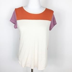 Anthropologie Color Block Tee sz. Small